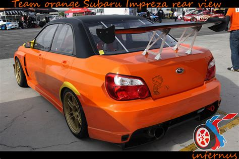 orange subaru impreza subaru impreza orange rear by janmarkelj on deviantart