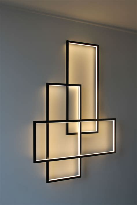frame design lighting sala o pasillo pinteres