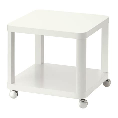 Ikea White Side Table Tingby Side Table On Castors White Ikea