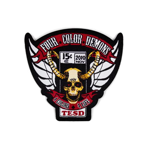 four color four color demons woven patch tell em steve dave