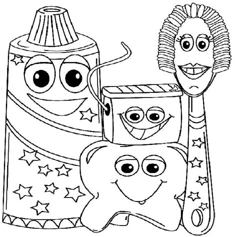 exle picture of dental health coloring page color luna