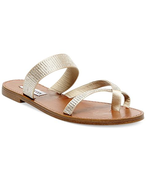s sandals with bling steve madden s aintso r rhinestone flat sandals in