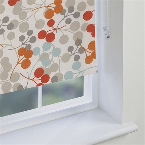orange patterned roller blind orange patterned roller blinds made to measure from