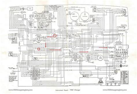 1969 dodge coronet wiring diagram instrument cluster