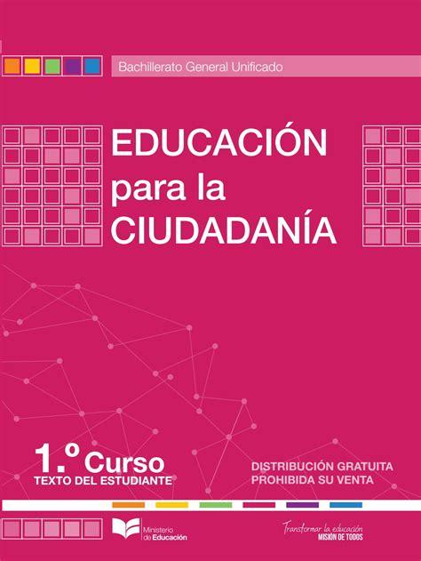 libro la nueva educacin libro ciudadania 1 bgu maya by mi vida issuu