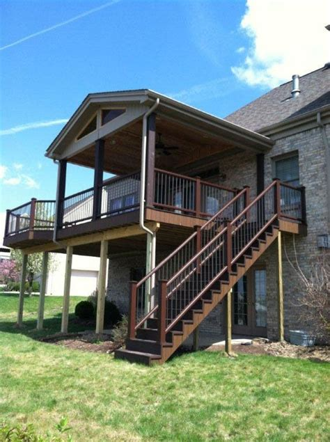 second story deck plans pictures best 25 second story deck ideas on pinterest 2 story