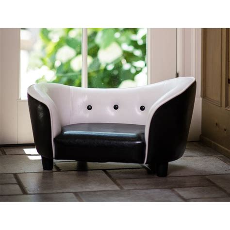 Black And White Sofa Bed Enchanted Home Pet Black And White Snuggle Sofa Bed