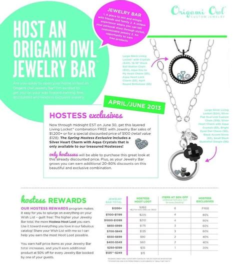 Origami Owl Rewards - how does hostess exclusive work origami owl 2014