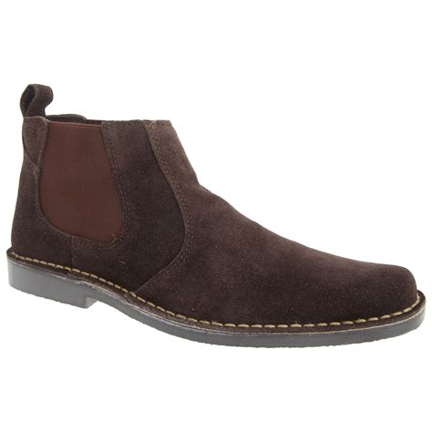 7 Ankle Boots by Roamers Mens Real Suede Classic Casual Desert Ankle Boots