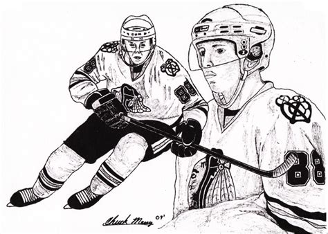 hockey coloring pages of sidney crosby hockey in art september 2010