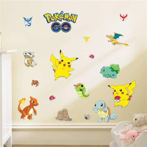 Cartoon Pokemon Go Wall Stickers For Kids Rooms Home Decor Stickers For Rooms