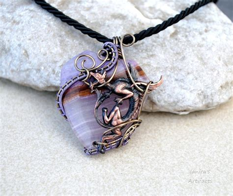 how to make agate jewelry light purple wire wrapped agate pendant by