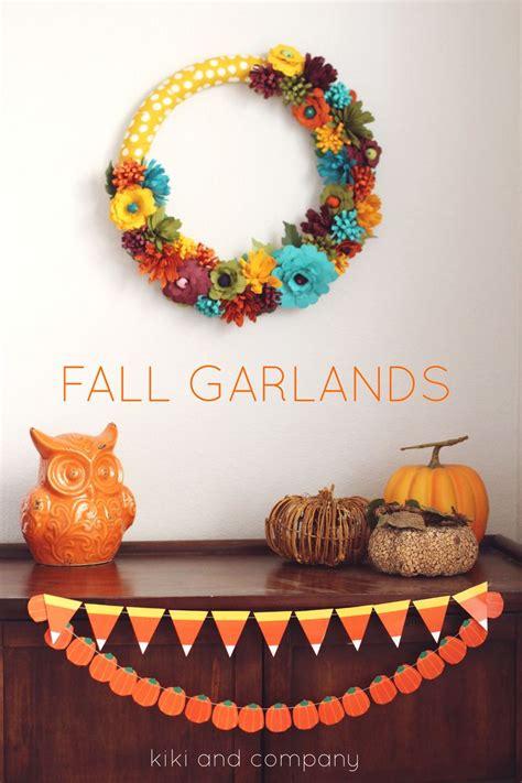 fall garlands decorations free printable fall garlands corn corn