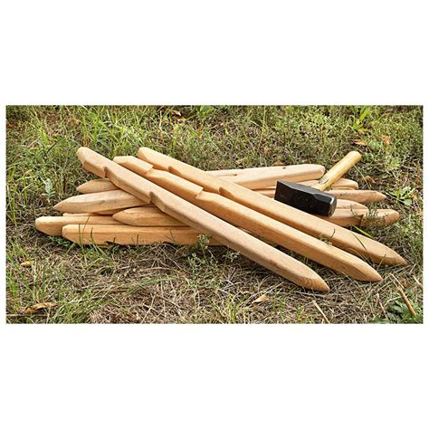 wooden tent 15 new u s military surplus wooden tent stakes 421396