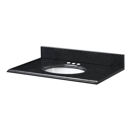 31 Inch Vanity Top by Pegasus 31 Inch W X 19 Inch D Granite Vanity Top In Black