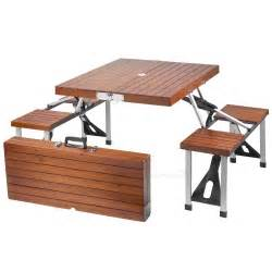 Folding picnic table wood details
