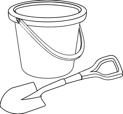 free coloring pages of bucket and shovel