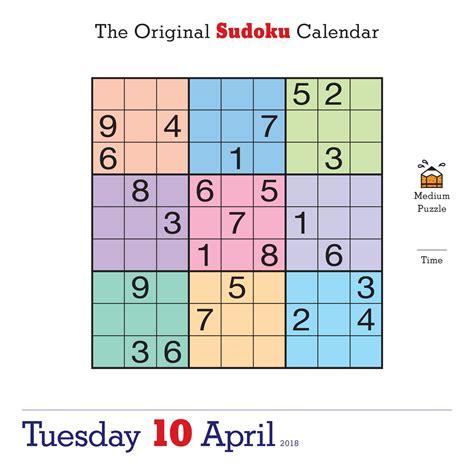 Center Original Schedule Book 2018 Planner the original sudoku page a day calendar 2018 editors at nikoli 9780761193388 books