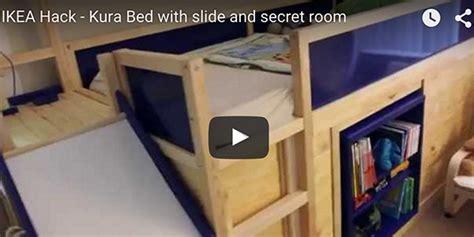 ikea kids bed hack  secret room