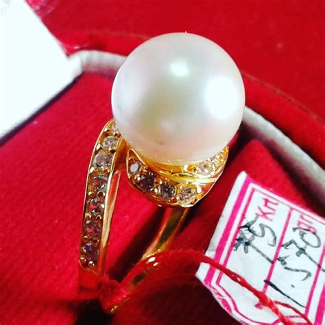 Cincin Handmade - handmade gold ring with south sea pearl cez 40 info
