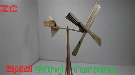 How To Make A Paper Wind Turbine - how to make a wind turbine out of popsicle sticks