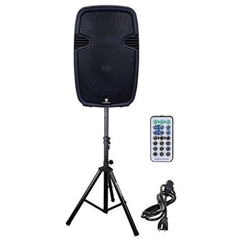 Layar Speaker Portable Led 15inch Toatech Audio Profesional Japan proreck pr c15 portable 15 inch 600 watt 2 way powered dj