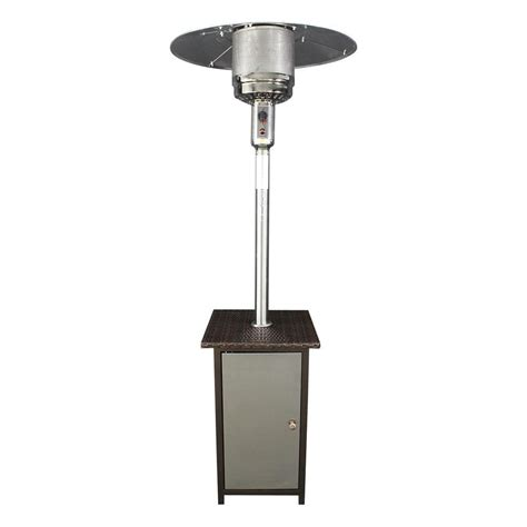 Stainless Steel Gas Patio Heater Homcomfort 41 000 Btu Stainless Steel Gas Patio Heater With Wicker Stand And Door Hcphsswkr