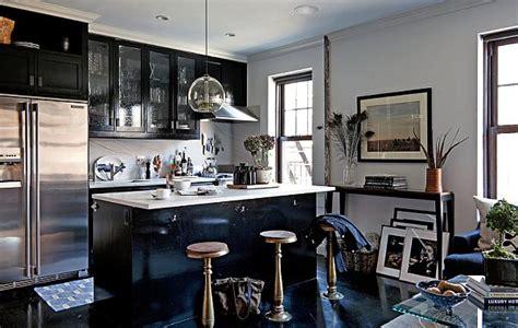 bachelors kitchen masculine interior design apartment in greenwich village