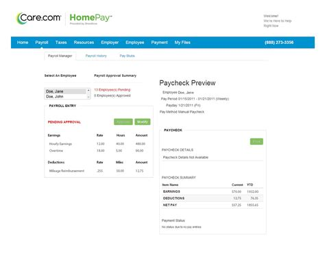 nanny taxes household employee payroll homepay