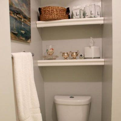 Built In Shelves Bathroom 20 Best Images About Organization Cleaning On Pinterest Stains Hanging Baskets And Towels