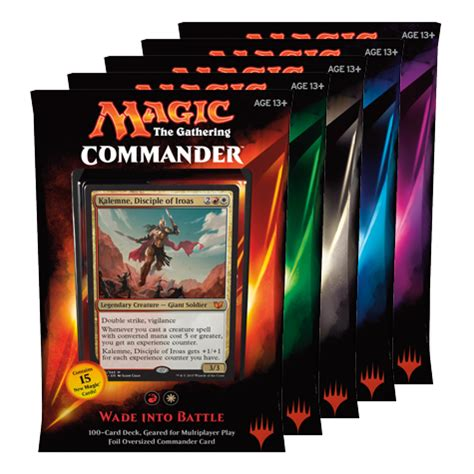Magic The Gathering 5 Color Deck by Magic The Gathering Commander 2015 Decks All 5 Complete