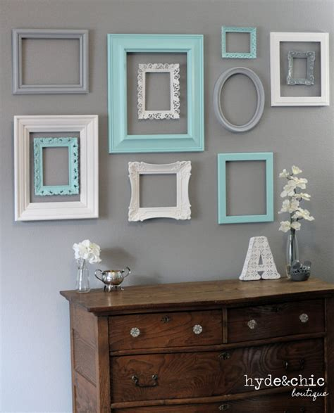 get old frames from good will etc and paint them to make a
