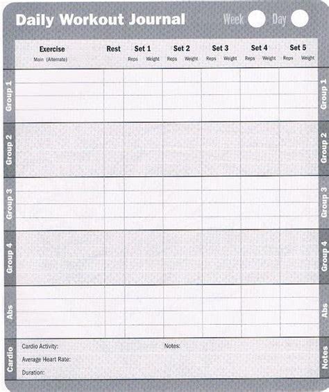printable exercise diary printable exercise log free printable workout log sheets