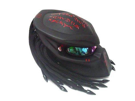 predator helmet custom biker motorcycle l size