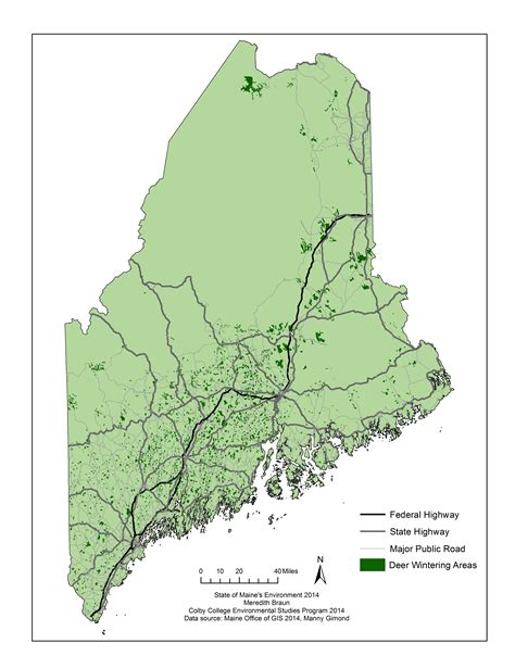 Maine Office Of Gis by State Of Big Species State Of Maine S Environment 2014