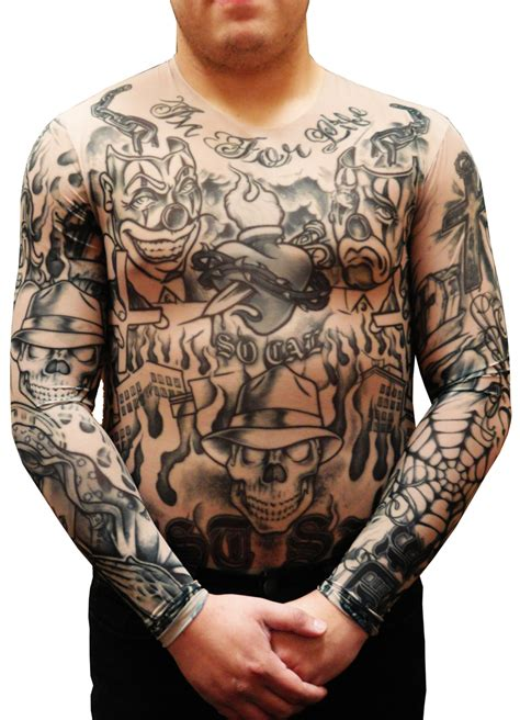 Tattoo Full Body Shirt | men s full body tattoo shirt prison ink full body tattoo