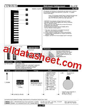 datasheet of transistor sl100 sl100 datasheet pdf lumins inc