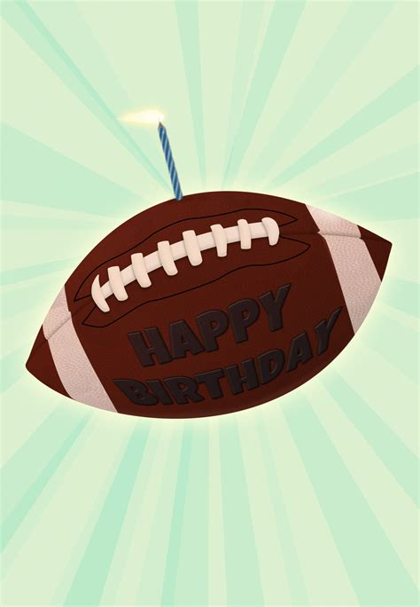 football   candle birthday card  island