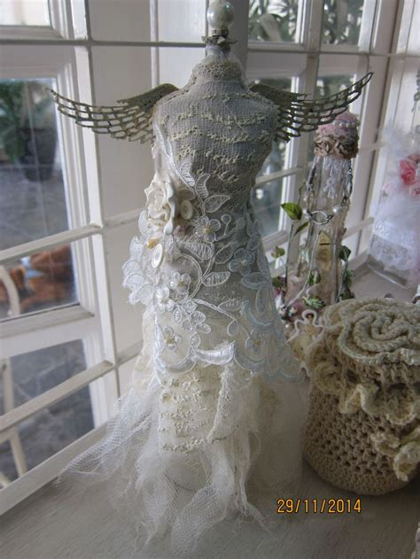 shabby chic steunk altered dress form mannequin