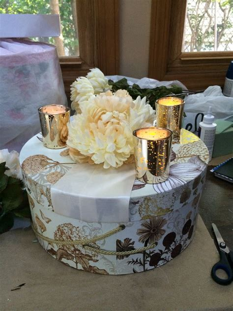 Wedding Favor Or Centerpiece Idea Boxed Martini Candles by 16 Best Hat Box Centerpiece Images On Flower