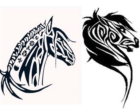 tribal horse head tattoos images designs
