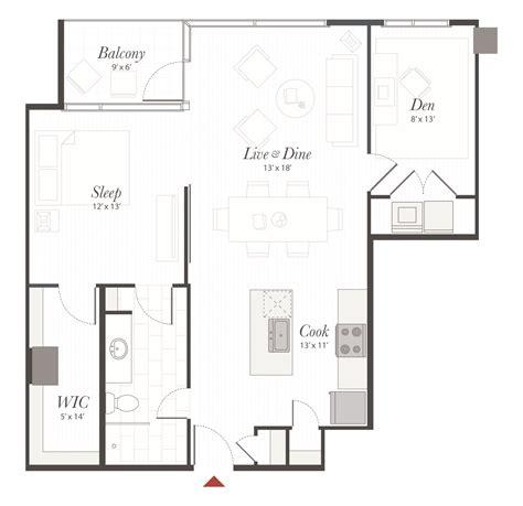apartment floor plans one bedroom den apartments in b5 floor plan 1 bedroom with den apartment cincinnati oh