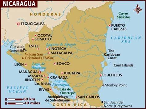 south america map nicaragua map of nicaragua