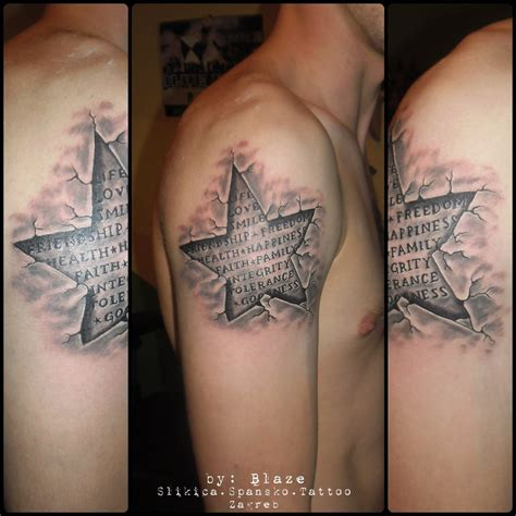 tattoo 3d com 31 3d star tattoos images and ideas for men and women