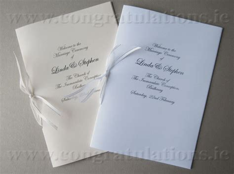 Church Wedding Book Covers by Budget Ceremony Booklets 50 Books White Stationery