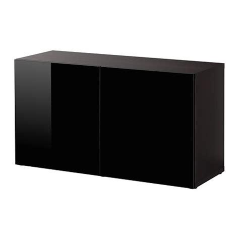 ikea besta black gloss best 197 shelf unit with doors black brown selsviken high
