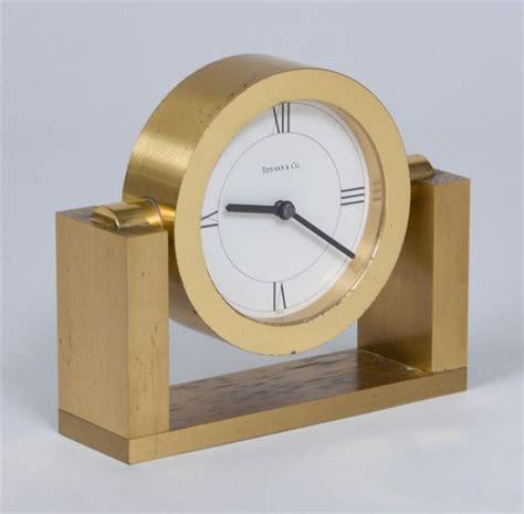 co brass desk clock co polished brass desk clock