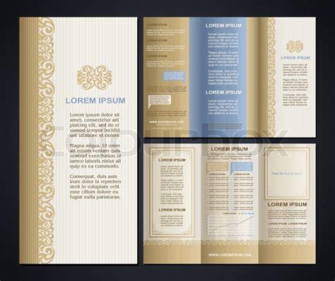 design elements for brochure vintage style brochure design template with logo modern