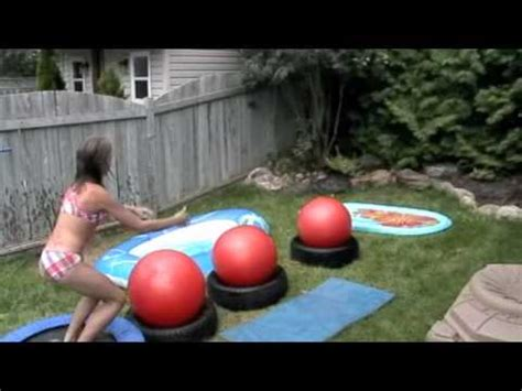 Backyard Birthday Party Invitations Wipeout Kids Edition Youtube
