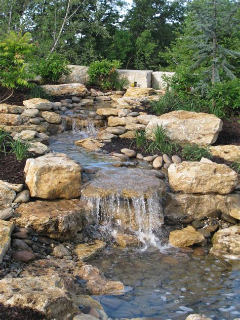 backyard streams water feature design installation in kansas city